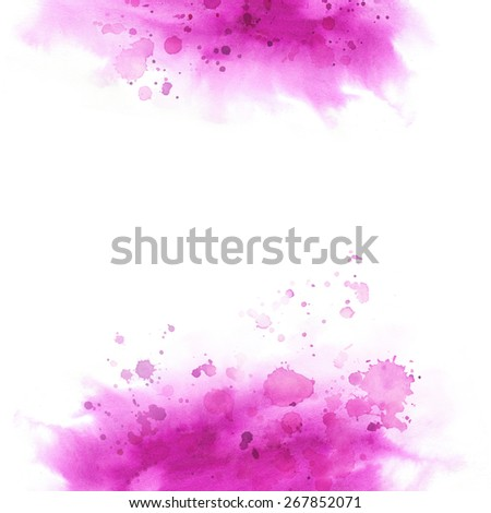 Watercolor background for textures. Abstract watercolor background. Shape design blank watercolor colored rounded shapes web buttons on white background. - stock photo