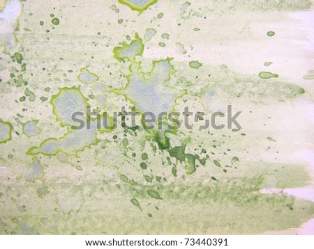 Watercolor Background in Green 4 - stock photo