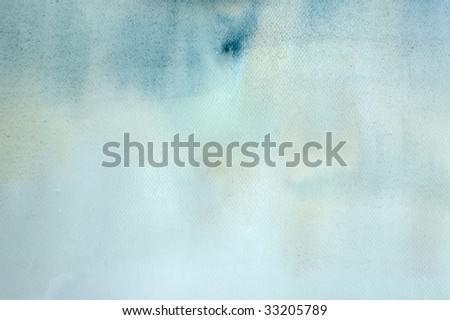 watercolor background in pastel blue and yellow color - stock photo