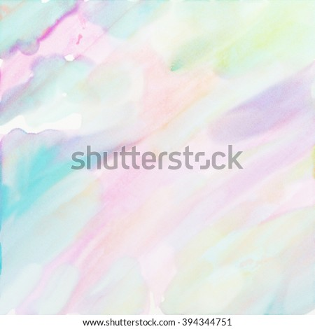 watercolor background paper design in soft pastel spring colors - stock photo