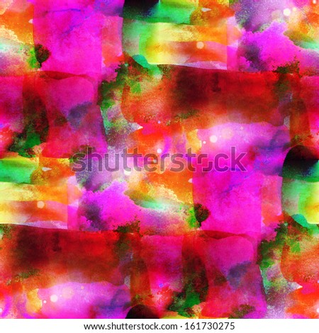watercolor background red, green, yellow seamless texture abstract paint pattern art