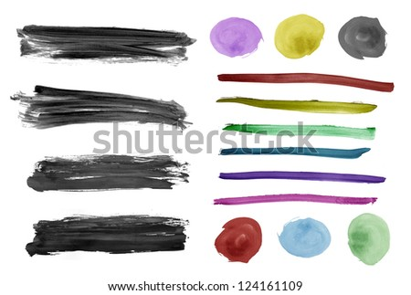 watercolor background, set of grunge background for design work - stock photo