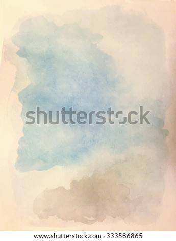 Watercolor background. Shades of cloudy sky.