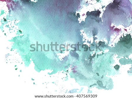 watercolor background with blue