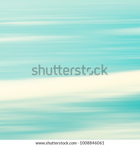 Watercolor background with retro water texture - abstract blurred beach concept