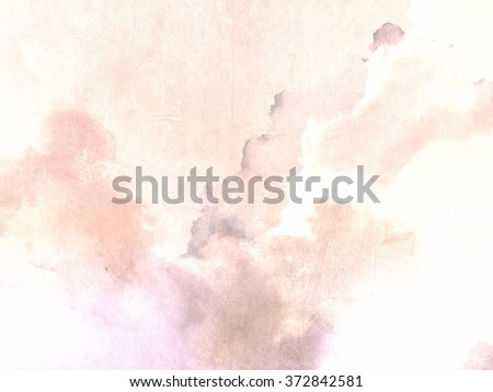 Watercolor background with soft pastel vintage texture