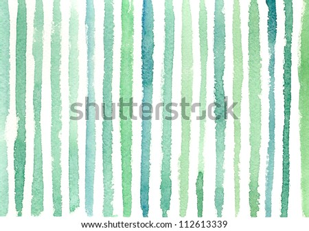 Watercolor background with stripes #1 - stock photo