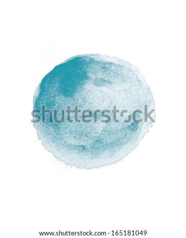 watercolor blob  - stock photo