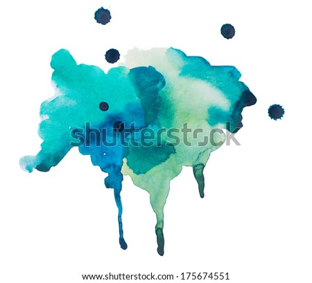 Watercolor blots background - stock photo