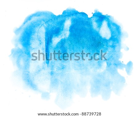 watercolor blue abstract background - stock photo