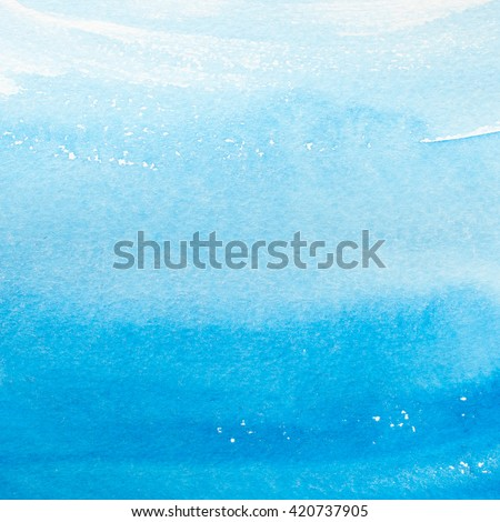 Watercolor blue brush strokes background design isolated - stock photo