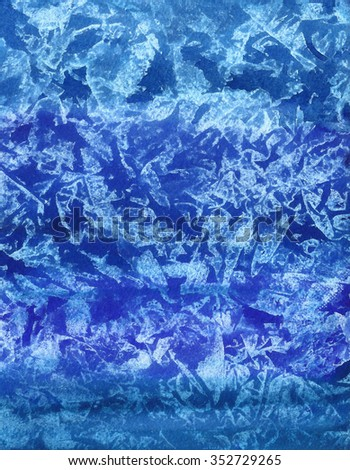 Watercolor blue pattern, abstract