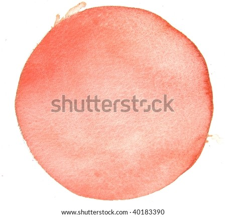 watercolor circle background - stock photo