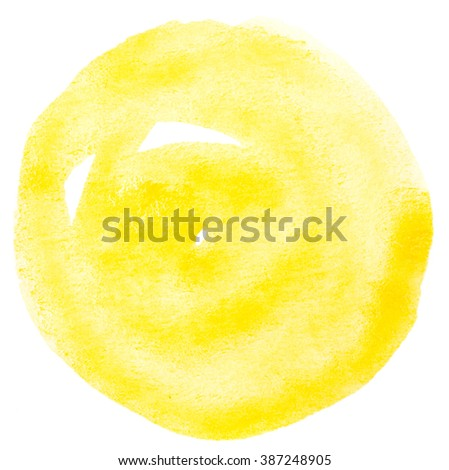 Watercolor circle isolated on white background - stock photo