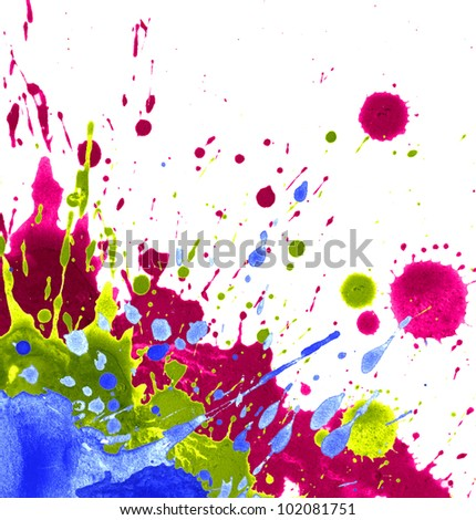 Watercolor Color Paint Splash Isolated On Stock Illustration