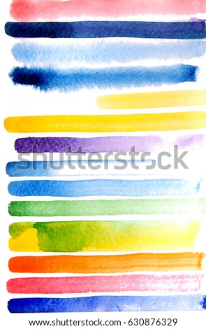Watercolor elements for design, line