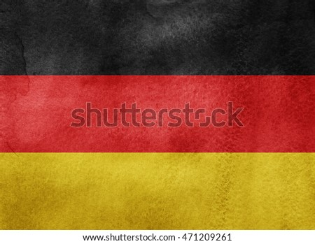 Watercolor flag background. Germany