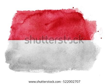 Watercolor Flag Background Indonesia Monaco Ilustración de ...