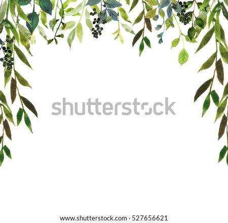 Flower arch stock images royalty free images vectors for Watercolor greenery