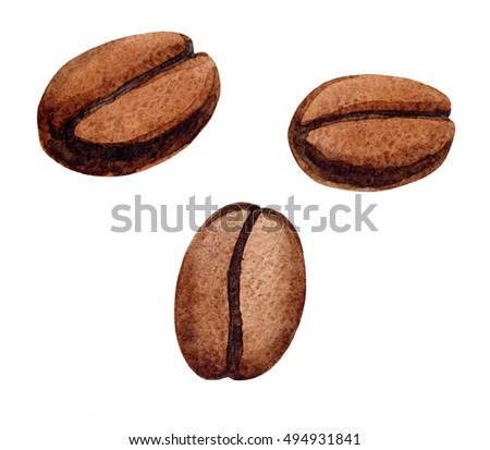 Watercolor hand painted watermelon seamless pattern stock for How to draw a coffee bean