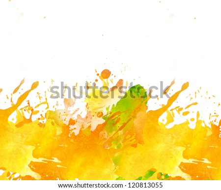 Watercolor hand drawn paint splash