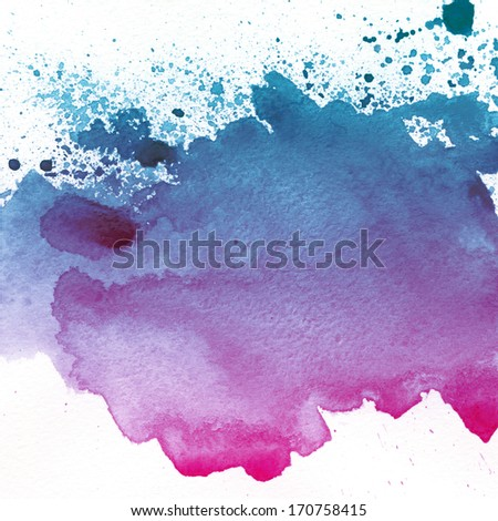 Watercolor hand drawn spot background  - stock photo