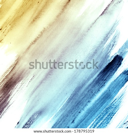 Watercolor hand painted brush strokes, striped background. Aquarelle texture.  - stock photo