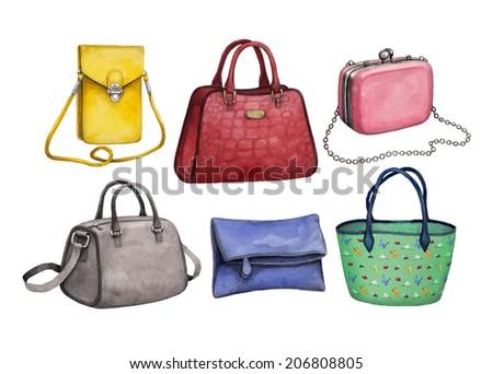 Handbag Illustrations Handbag Illustrations