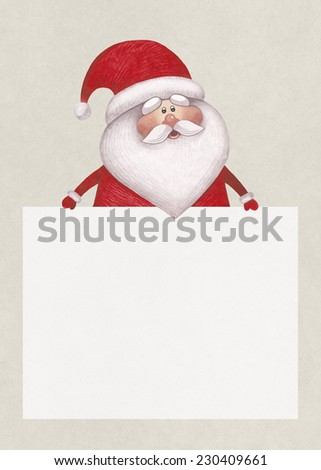 Watercolor illustration of Santa Claus. Perfect for Christmas greeting card  - stock photo