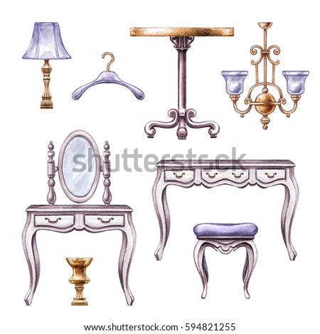 Vintage Furniture Stock Images Royalty Free Images Vectors