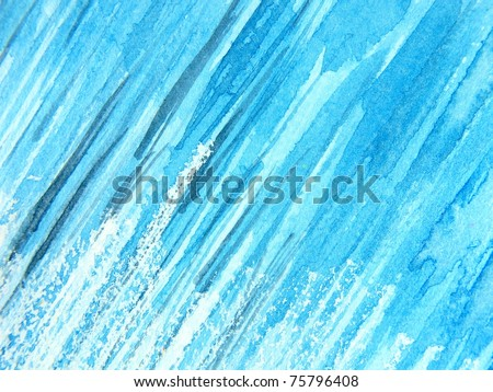 Watercolor in Blue 5 - stock photo