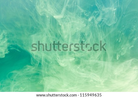 Watercolor in water. - stock photo
