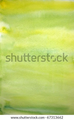 Watercolor lemon hand painted art background for scrapbooking, created by me - stock photo