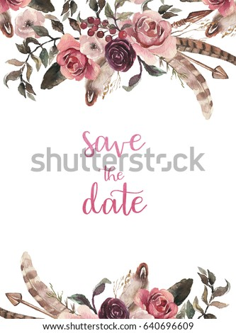 Painted Flower Border Stock Images, Royalty-Free Images ...