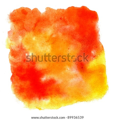 watercolor  orange brush strokes space for your own text
