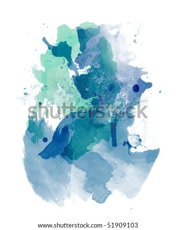 watercolor paint - stock photo
