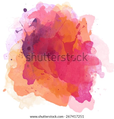 watercolor paint abstract background - stock photo