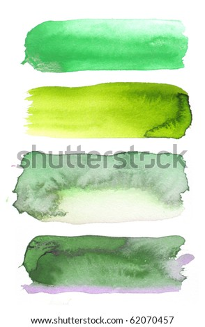 watercolor paint background design shapes - stock photo