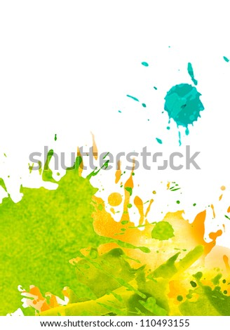 watercolor paint splash