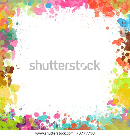 Watercolor painted background - stock photo