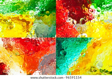 watercolor painting colorful - stock photo