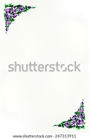 watercolor painting  rose, valentine , rose margin, rose arbour ,rose door facade, rose arched entrance , decorated flower, vine, Decoration flower, flower frame - stock photo