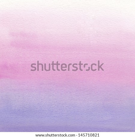 Watercolor painting. White, pink, purple gradient   - stock photo