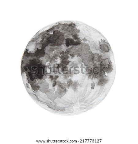 Watercolor Paintings Of Moon