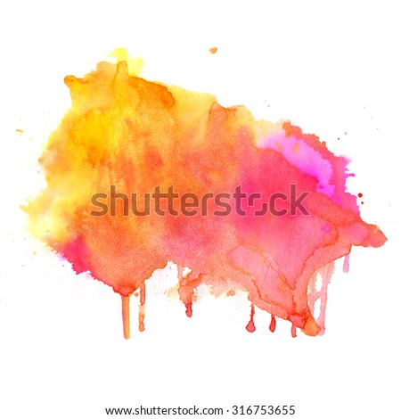 Watercolor pink background. Hand drawn Painting. Colorful illustration. - stock photo