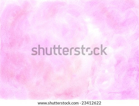 Watercolor pink light background - stock photo