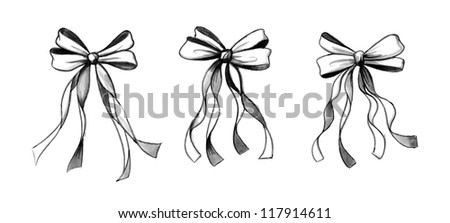 Watercolor Ribbons - stock photo