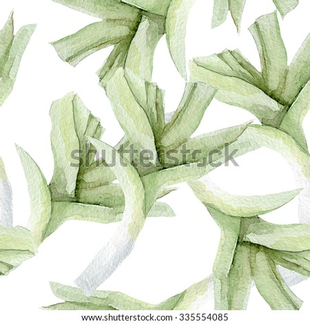 Watercolor shallots seamless pattern. Vegetable background. Vegetarian food background. - stock photo