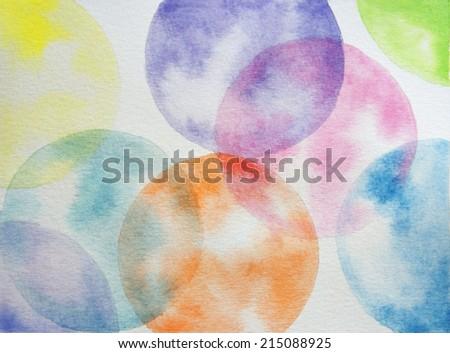 watercolor spheres - stock photo