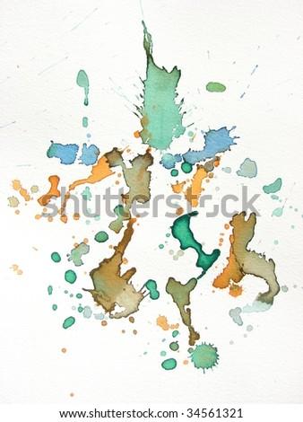 watercolor splash background - stock photo